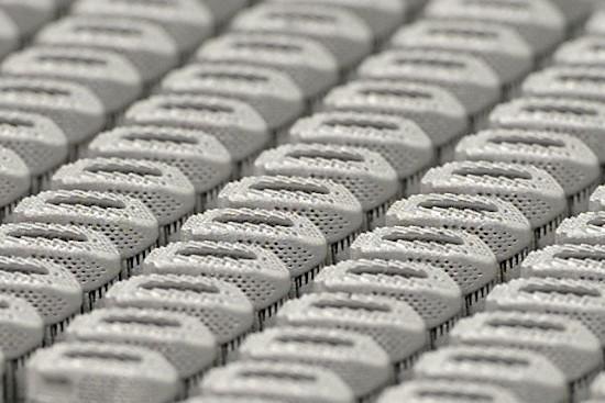 3D printed implants on print plate